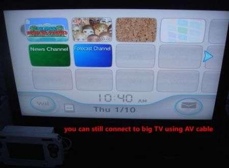 Nintendo Wii trasformata in una NDS maxi