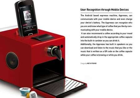 Macchina per caffè con Android, per un espresso Google!