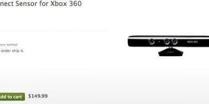 Microsoft svela il prezzo di Kinect sul suo store ufficiale