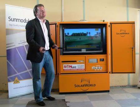 TV Solari per vedere i Mondiali 2010 nelle zone remote del Sudafrica