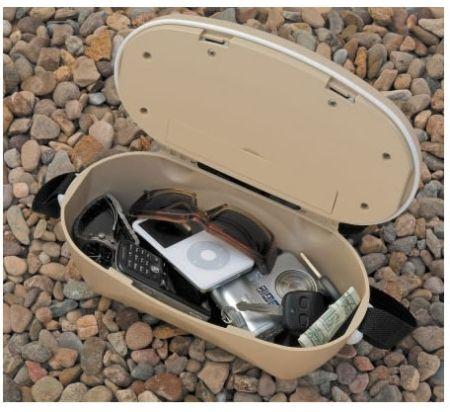 Mini-cassaforte da spiaggia con sensore di movimento e allarme