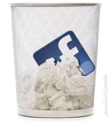 Facebook: cancellazione istantanea di account, dati e tutte le informazioni