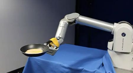 Robot che gira in padella pancake, video!
