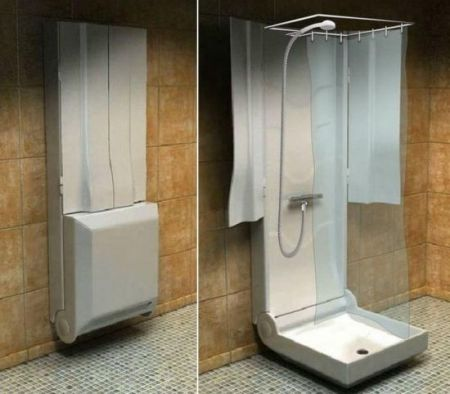 Doccia pieghevole per tutti i bagni
