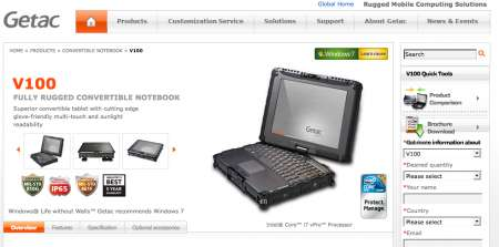 Getac V100: il nuovo notebook rugged indistruttibile