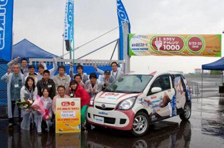 Auto elettrica percorre 1000 km con batterie da notebook