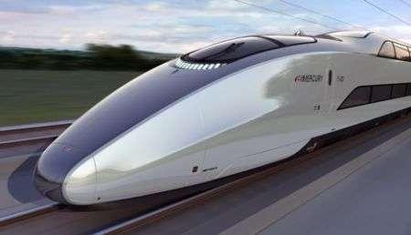 Mercury: treno superveloce hitech inglese doppio-piano