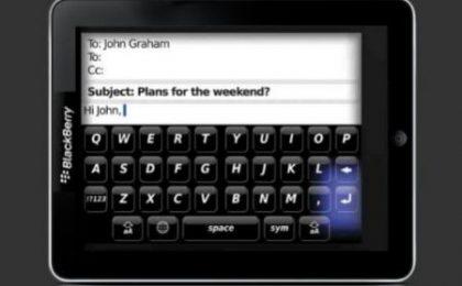 Tablet Blackberry: alcune indiscrezioni sui componenti bomba