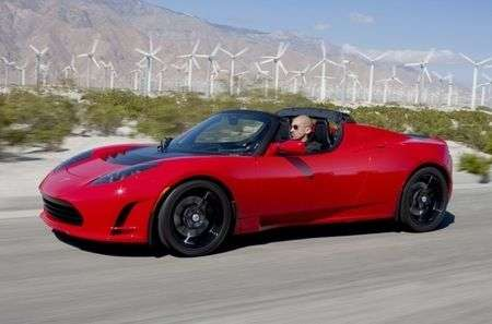 Tesla Roadster 2.5 con touchscreen di controllo
