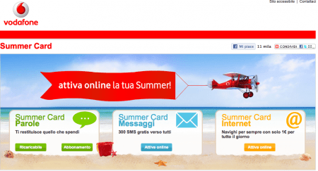 Vodafone: 7 milioni di summer card attivate finora!