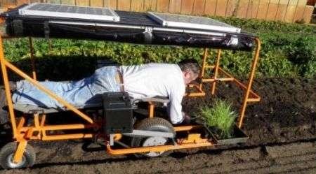 Wunda Weeder: mezzo agricolo hitech per lavorare sdraiati