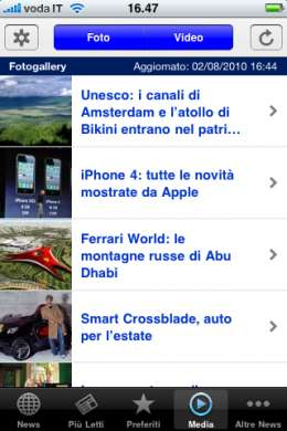 App Nanopress anche per iPhone 4