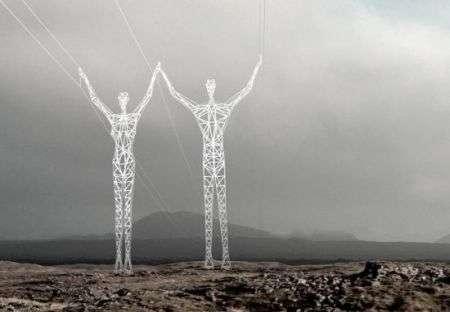 """Tralicci """"umani"""": trasportare energia in modo artistico"""