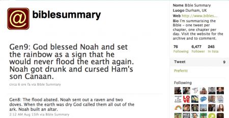 Twitter: la Bibbia a 140 caratteri per volta
