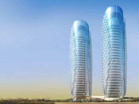 I grattacieli solari gemelli di Abu Dhabi