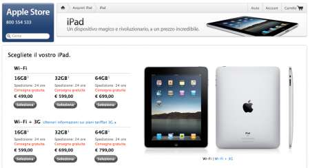 iPad consegne in sole 24 ore