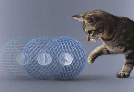 Purificatore d'aria ecologico alimentato a gatto!