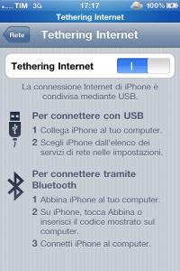 Tethering TIM iOS 4.1