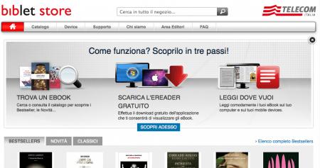 Biblet Store: il primo ebook store italiano di Telecom e Mondadori