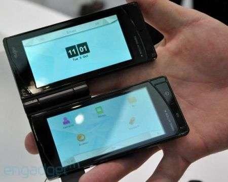 Cellulare Fujitsu a doppio touchscreen orientabile