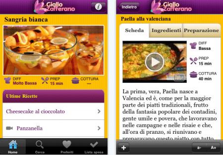 giallo zafferano app iphone