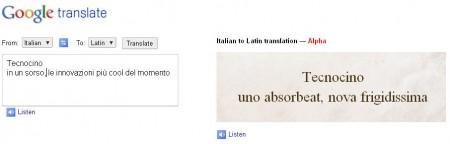 Google apre alle traduzioni con il latino
