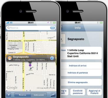 iphone 4 mappa