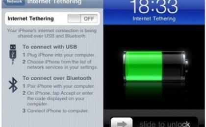 iPhone Tethering per avere internet con Wind, Vodafone, Tim e Tre