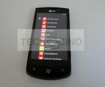 LG Optimus 7 con Windows Phone 7 in prova esclusiva