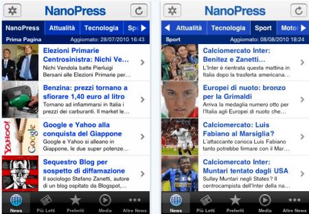 nanopress app iphone gratis