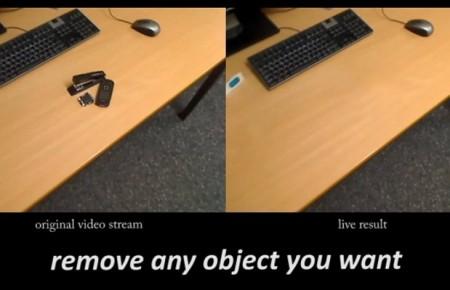 Realtà Diminuità: in video fai sparire oggetti in tempo reale!
