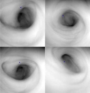 Venere: l'enorme vortice al Polo Sud, foto