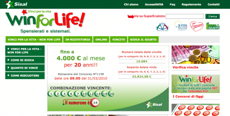 win for life online gioca