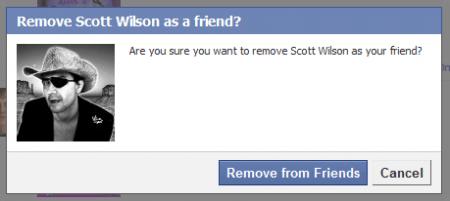 cancella amici facebook