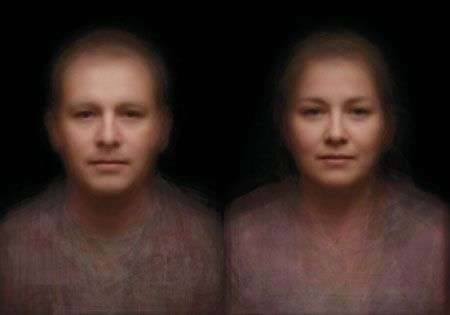 Il viso di Sidney: la donna e l'uomo mix di 160.000 ritratti fotografici
