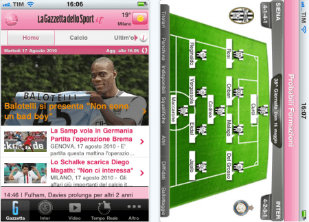 gazzetta iphone