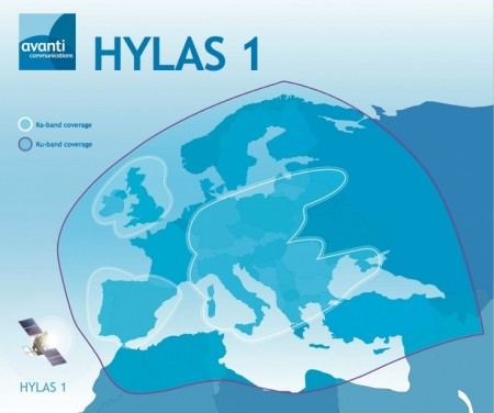 Satellite Hylas 1 per la banda larga in Europa