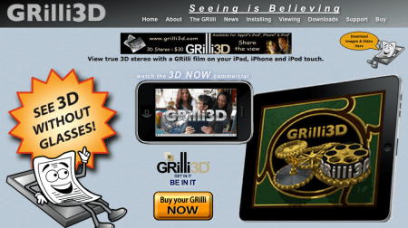 iPad 3D a basso costo grazie a Grilli3d
