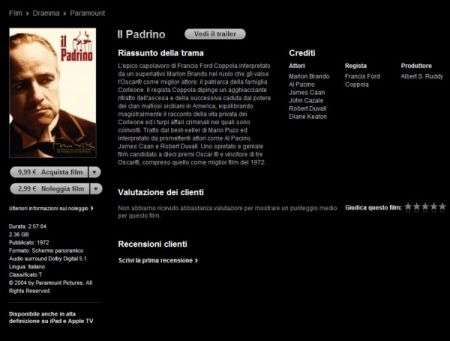 iTunes Store apre ai Film anche in HD per l'Italia