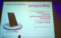 Tablet LG Optimus Tab: nuove voci sui componenti