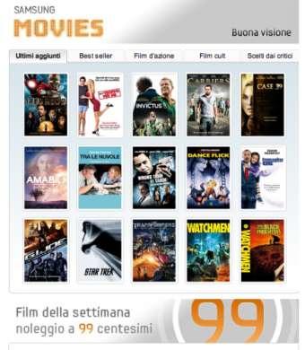 Samsung Galaxy Tab accoglie i film con il nuovo Movie Store!