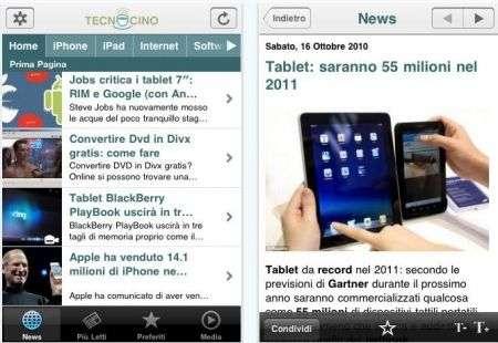Tecnocino su iPhone: ecco l'app ufficiale del portale hitech