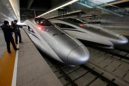 I treni cinesi hi tech si avvicinano ai 500km/h