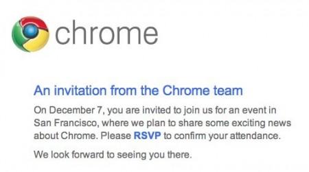 Google Chrome OS: un netbook alla presentazione del 7 Dicembre?
