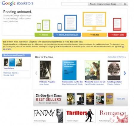 Google eBooks: apre ufficialmente lo store di libri digitali