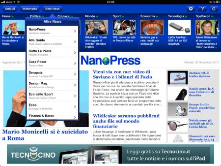 Tecnocino su iPad, scarica l'applicazione gratuita di NanoPress