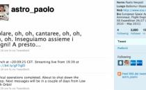 Paolo Nespoli su Twitter racconta la sua avventura spaziale
