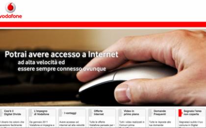 Vodafone 1.000 Comuni: Internet Banda Larga anti digital divide