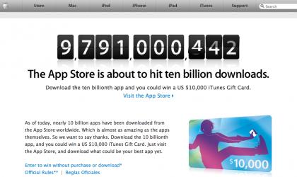 iTunes App Store verso i 10 miliardi di download, ricco premio in regalo
