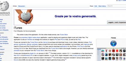iTunes e Wikipedia compiono 10 anni